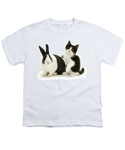 Black And White Double Act Youth T-Shirt