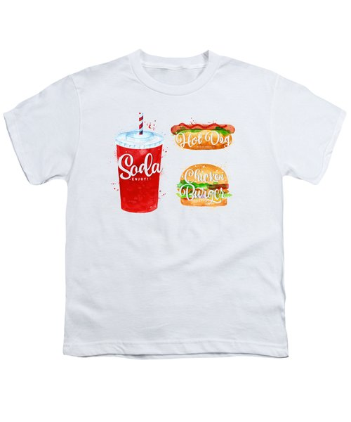 Black Soda Youth T-Shirt by Aloke Creative Store