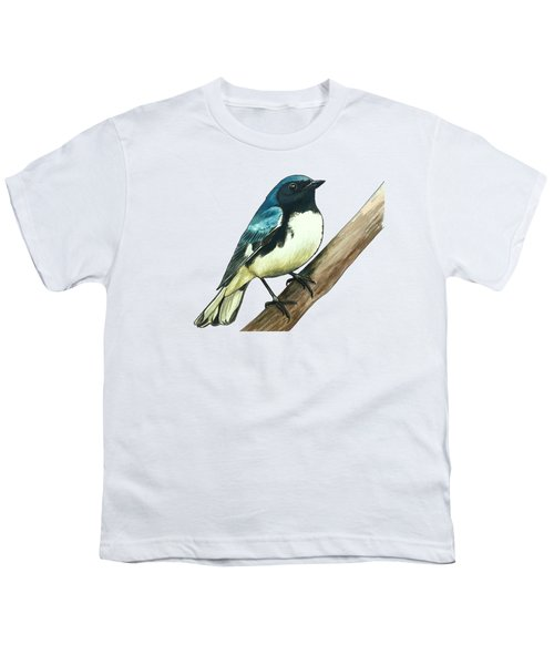 Black-throated Blue Warbler Youth T-Shirt
