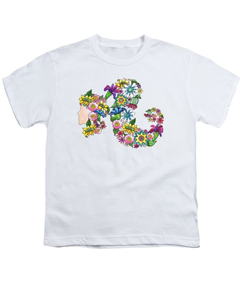 Blossoming Ponytail Youth T-Shirt