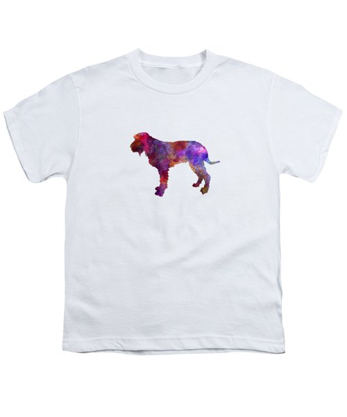 Blue Gascony Griffon In Watercolor Youth T-Shirt by Pablo Romero