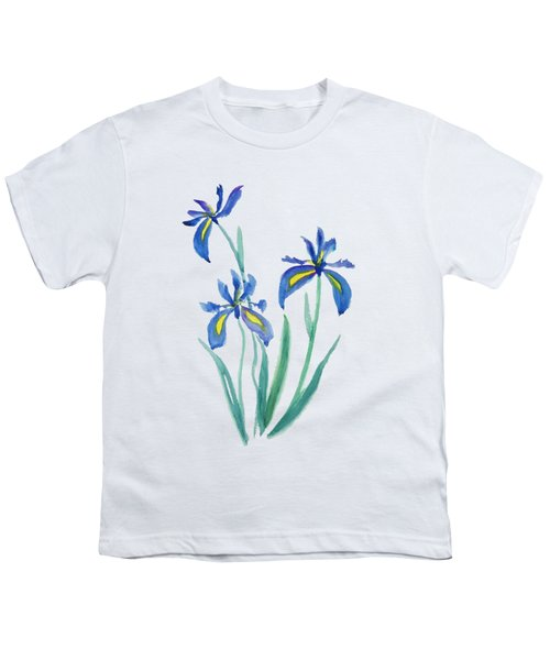 Blue Iris Youth T-Shirt by Color Color