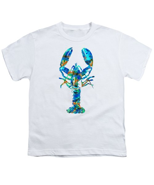 Blue Lobster Art By Sharon Cummings Youth T-Shirt by Sharon Cummings
