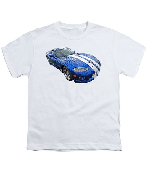 Blue Viper Youth T-Shirt by Gill Billington