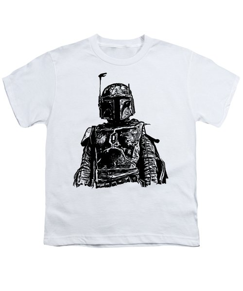 Boba Fett From The Star Wars Universe Youth T-Shirt by Edward Fielding
