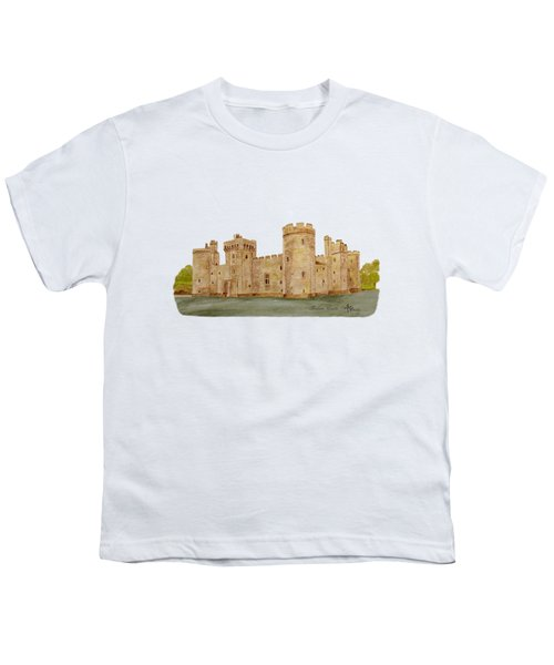 Bodiam Castle Youth T-Shirt by Angeles M Pomata