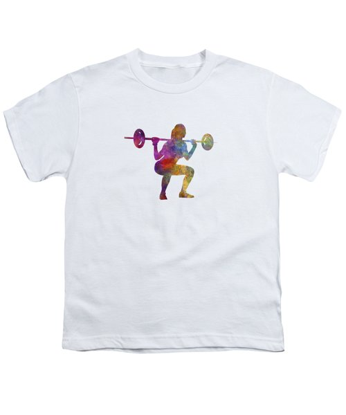 Body Buiding Woman Isolated Youth T-Shirt