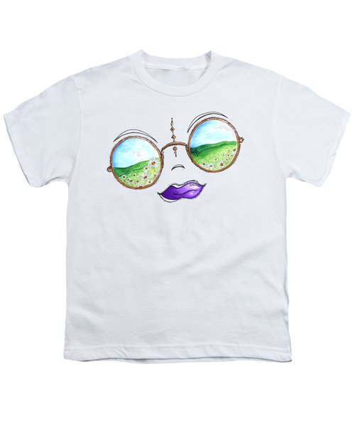 Boho Gypsy Daisy Field Sunglasses Reflection Design From The Aroon Melane 2014 Collection By Madart Youth T-Shirt