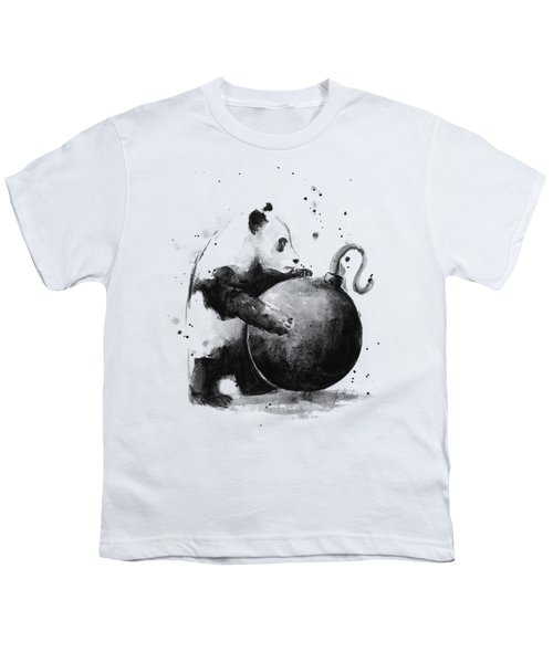 Boom Panda Youth T-Shirt by Olga Shvartsur