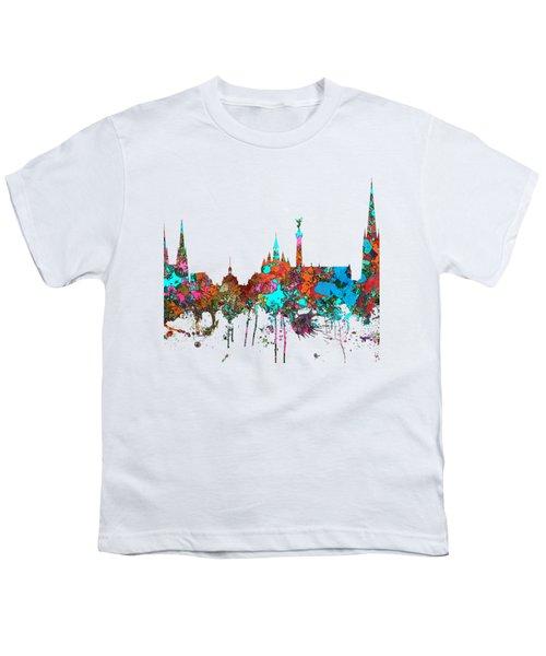 Bordeaux France  Skyline  Youth T-Shirt by Marlene Watson