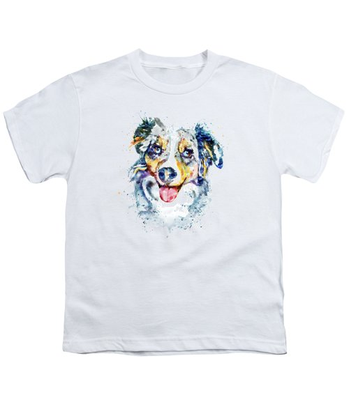 Border Collie  Youth T-Shirt by Marian Voicu