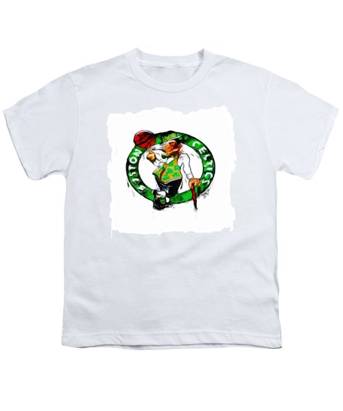 Boston Celtics 2b Youth T-Shirt by Brian Reaves
