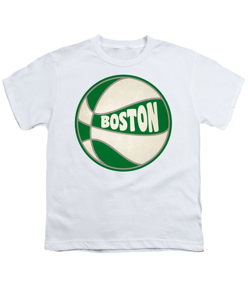 Boston Celtics Retro Shirt Youth T-Shirt by Joe Hamilton