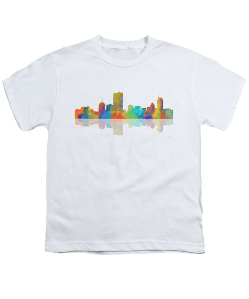 Boston Ma. Skyline Youth T-Shirt by Marlene Watson