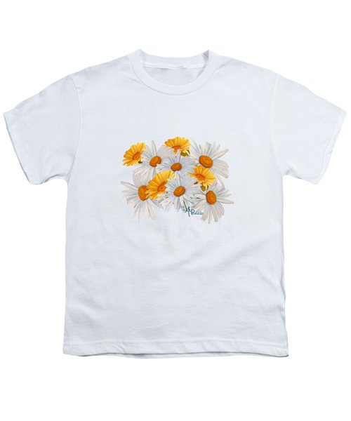 Bouquet Of Wild Flowers Youth T-Shirt by Angeles M Pomata