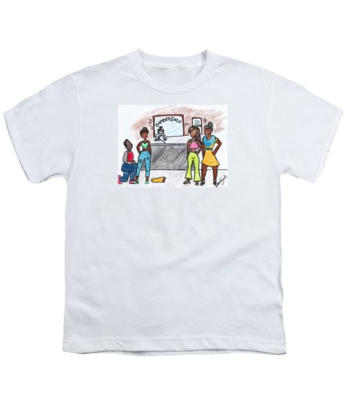 Boy Please Youth T-Shirt by Diamin Nicole