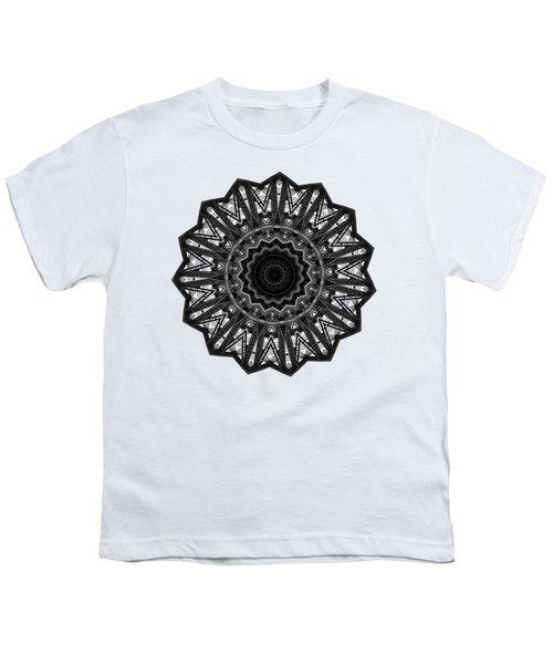 Bridge Construction Kaleidoscope By Kaye Menner Youth T-Shirt by Kaye Menner