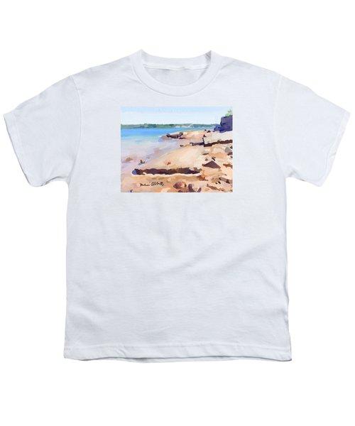 Broken Walkway Rock At Ten Pound Island Beach Youth T-Shirt
