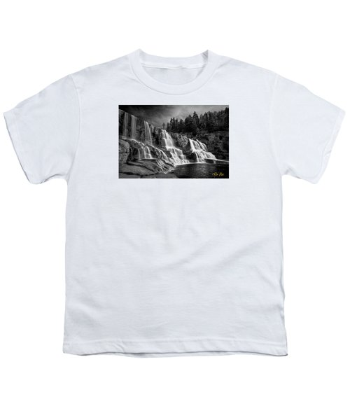 Youth T-Shirt featuring the photograph Brooding Gooseberry Falls by Rikk Flohr