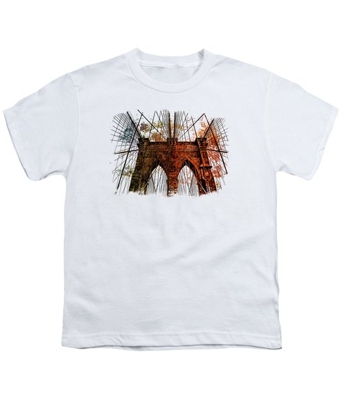 Brooklyn Bridge Art 1 Youth T-Shirt by Di Designs