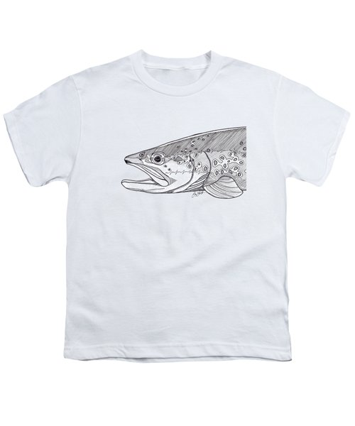 Brown Trout Youth T-Shirt by Jay Talbot