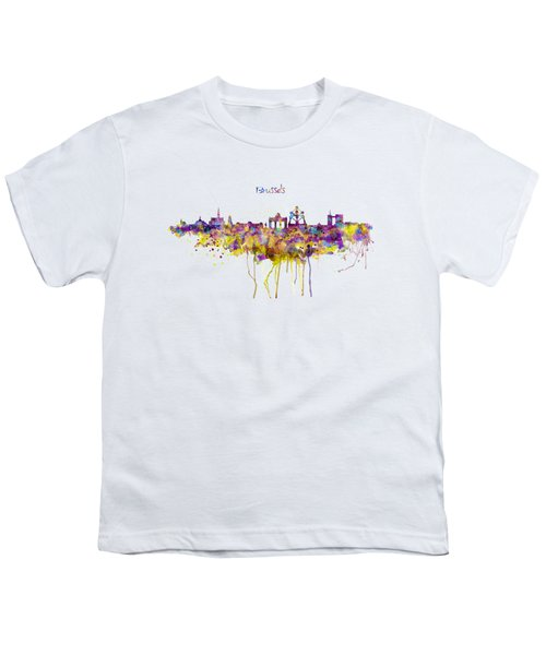 Brussels Skyline Silhouette Youth T-Shirt by Marian Voicu