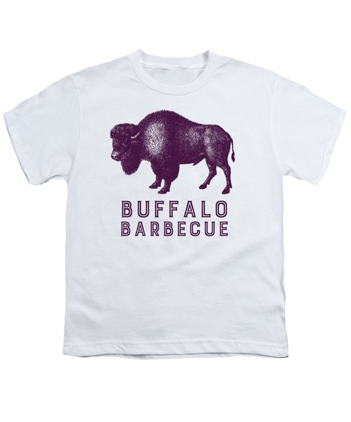 Buffalo Barbecue Youth T-Shirt by Antique Images