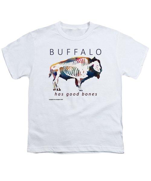 Buffalo Has Good Bones Youth T-Shirt by Marybeth Cunningham