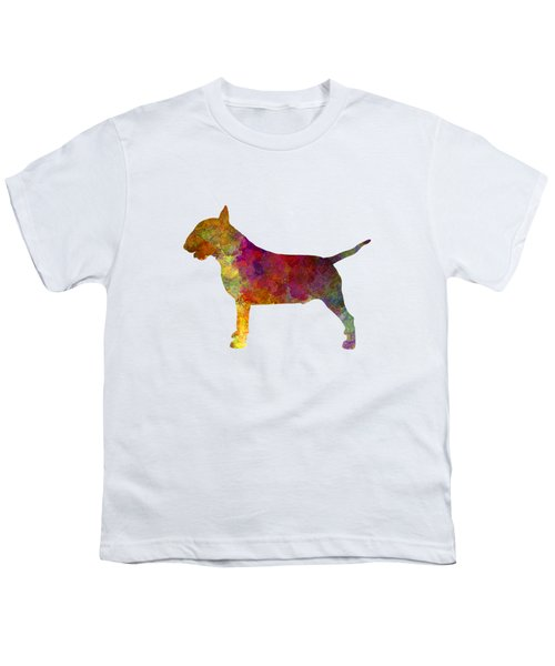 Bull Terrier In Watercolor Youth T-Shirt by Pablo Romero