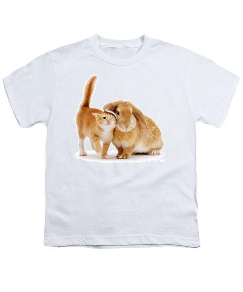 Bunny Rubbing Youth T-Shirt