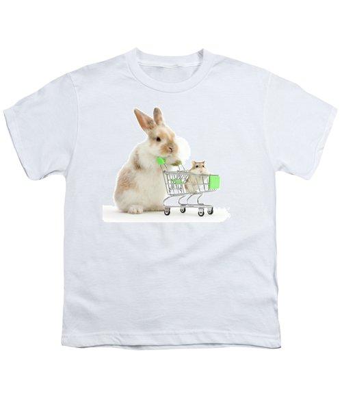 Bunny Shopping Youth T-Shirt