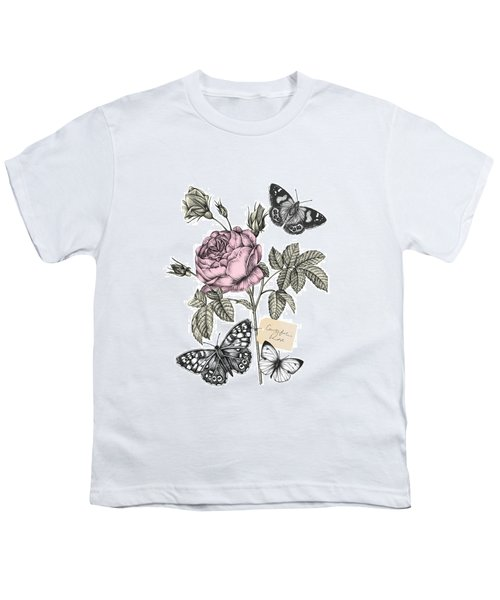 Cabbage Rose Youth T-Shirt by Stephanie Davies
