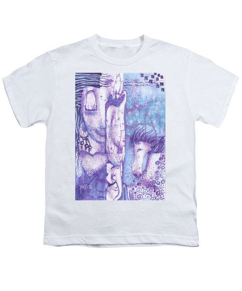 Youth T-Shirt featuring the mixed media Calling Upon Spirit Animals by Prerna Poojara