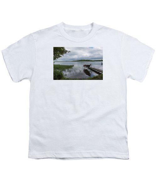 Camelot Island From Wilderness Point Youth T-Shirt by Gary Eason