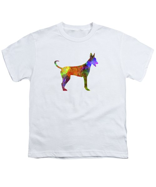 Canarian Warren Hound In Watercolor Youth T-Shirt by Pablo Romero