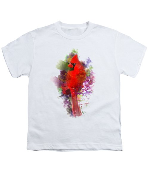 Cardinal Watercolor Youth T-Shirt