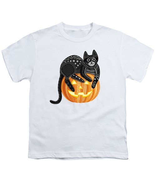Cattober Youth T-Shirt by Veronica Kusjen