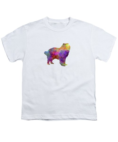 Caucasian Shepherd Dog In Watercolor Youth T-Shirt by Pablo Romero
