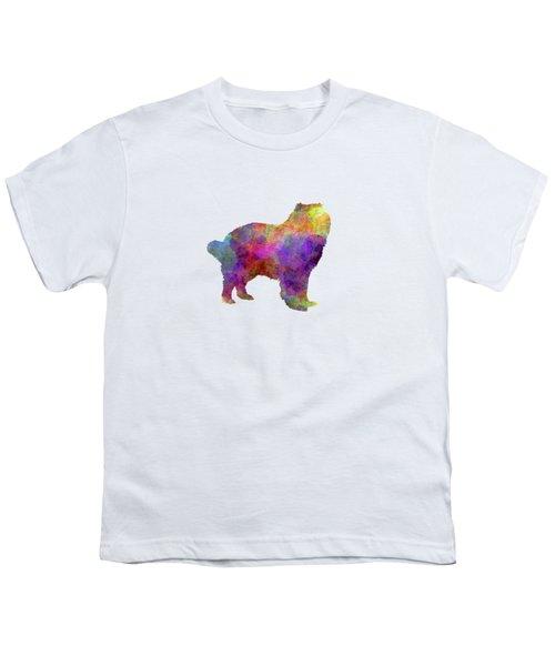 Caucasian Shepherd Dog In Watercolor Youth T-Shirt