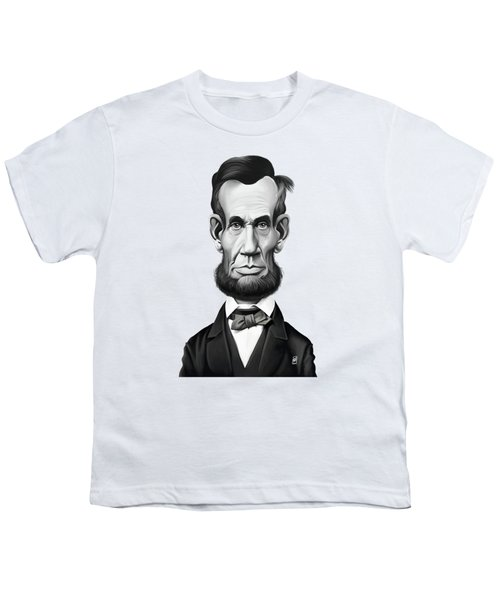 Celebrity Sunday - Abraham Lincoln Youth T-Shirt by Rob Snow