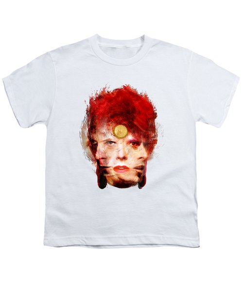 Ch Ch Changes David Bowie Portrait Youth T-Shirt by Big Fat Arts