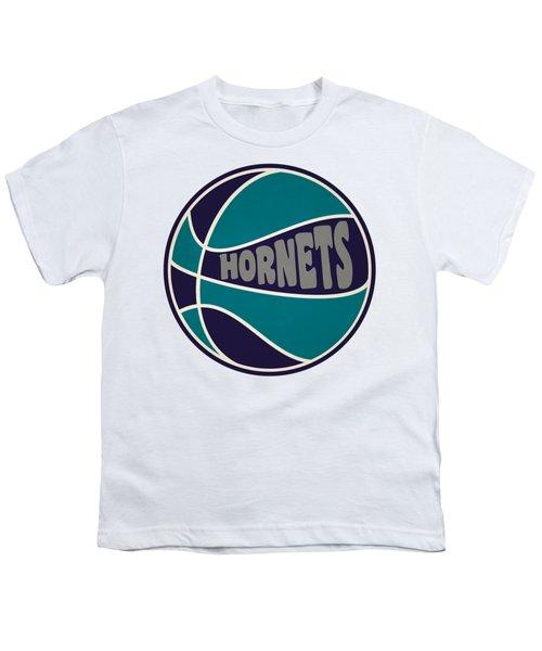 Charlotte Hornets Retro Shirt Youth T-Shirt by Joe Hamilton