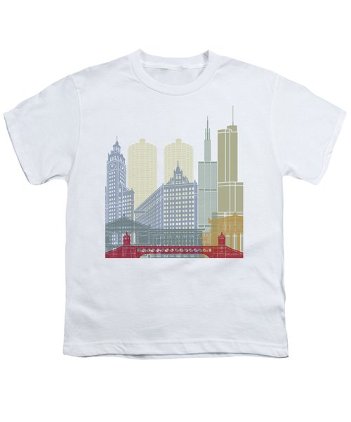 Chicago Skyline Poster Youth T-Shirt