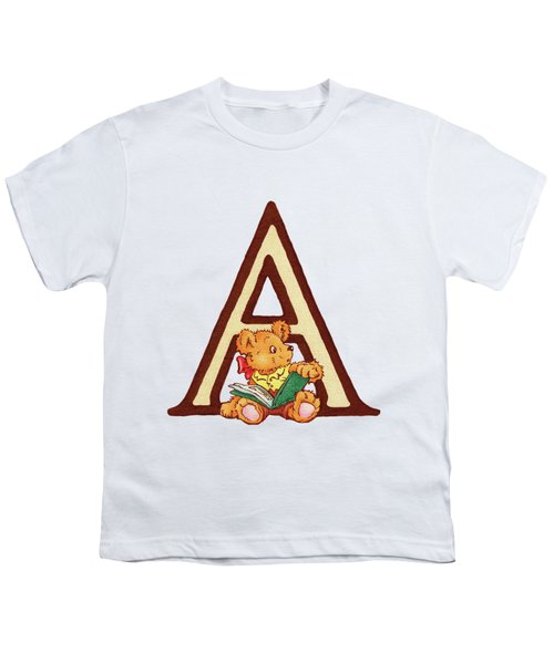 Children's Letter A Youth T-Shirt by Andrea Richardson