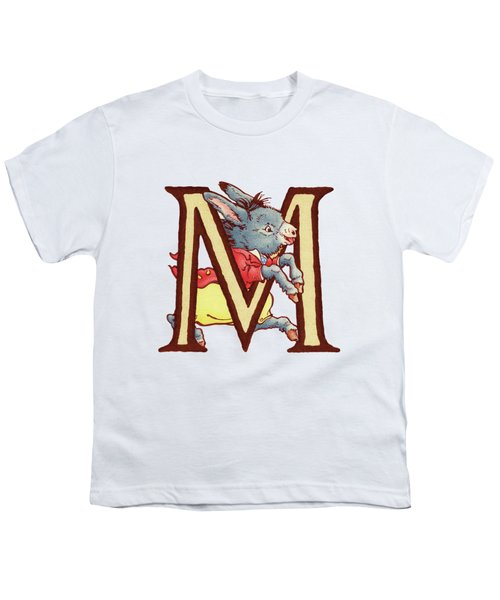 Children's Letter M Youth T-Shirt by Andrea Richardson