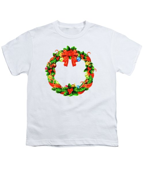 Christmas Wreath Youth T-Shirt