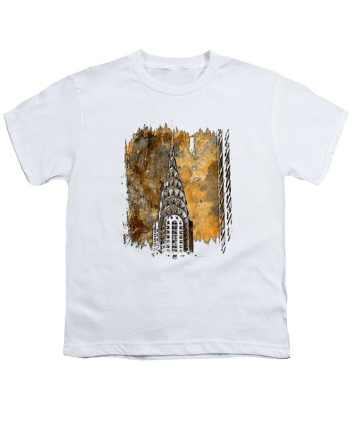 Chrysler Spire Earthy 3 Dimensional Youth T-Shirt by Di Designs