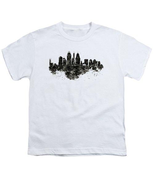 Cincinnati Skyline Black And White Youth T-Shirt