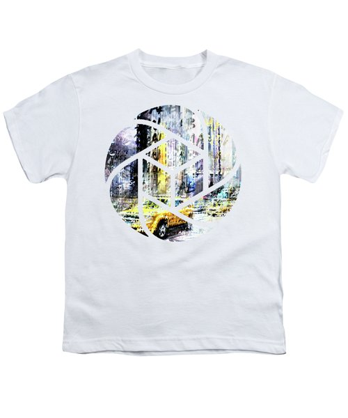 City-art Times Square Streetscene Youth T-Shirt by Melanie Viola
