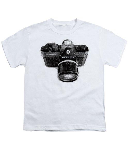 Classic Yashica Slr Film Camera Youth T-Shirt by Edward Fielding